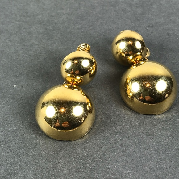 b5749cc4b Vintage Monet gold ball clip dangle earrings. M_5b69cfb9283095f977dfd94e